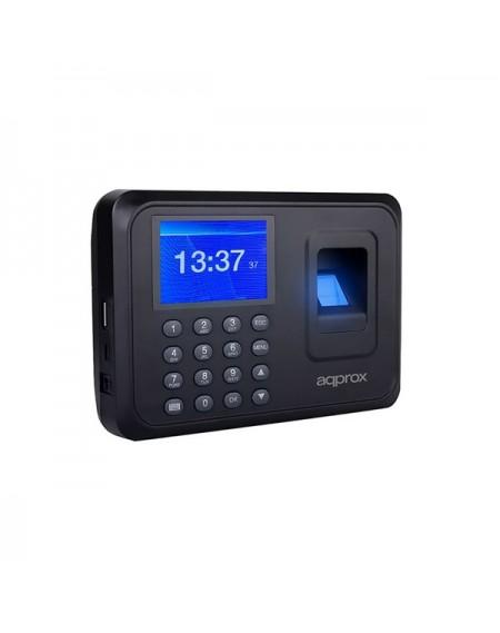 """Système de Contrôle d'Accès Biométrique approx! appATTENDANCE01 2,4"""" TFT USB Noir"""