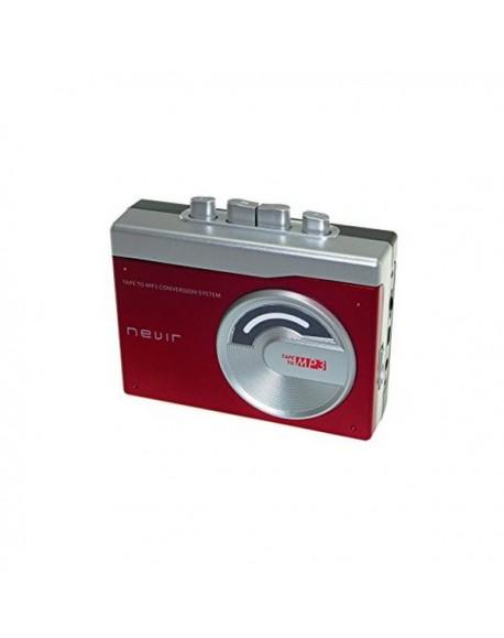 Lecteur convertisseur cassette MP3 NEVIR NVR-417 Rouge