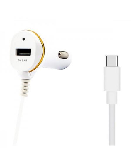Chargeur de voiture Ref. 138239 USB Blanc