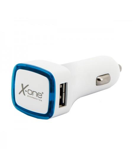 Chargeur de voiture Ref. 138406 2 x USB-A Blanc Bleu