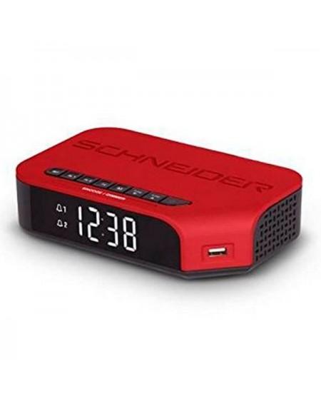 Radio-réveil SCHNEIDER VIVA SC310ACLRED AM/FM USB Rouge