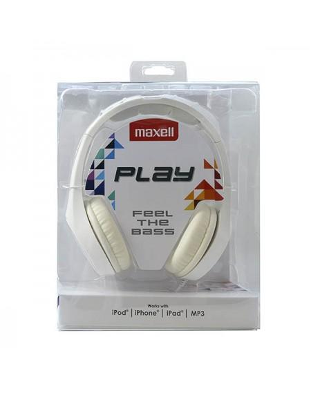 Casque Maxell Play MXH-HP500 Blanc Serre-tête