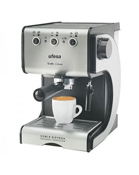 Café Express Arm UFESA CE7141 1,5 L 15 bar 1050W Noir Argenté Acier inoxydable