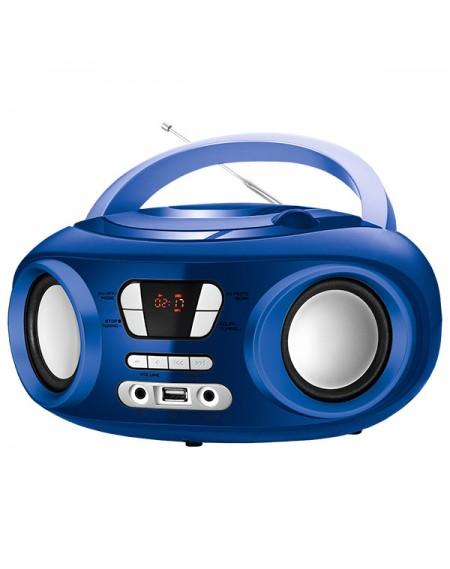 """Radio-CD Bluetooth MP3 9"""" BRIGMTON W-501 USB Bleu"""