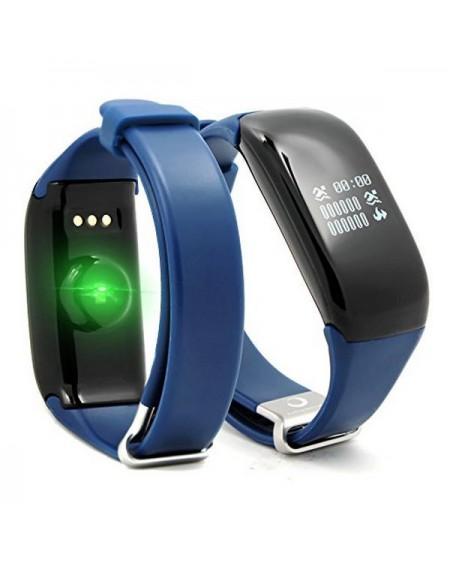 """Bracelet d'activités BRIGMTON BSPORT-14-A OLED 0.66"""" Bluetooth 4.0 IP67 Android /iOS 26 g Bleu"""