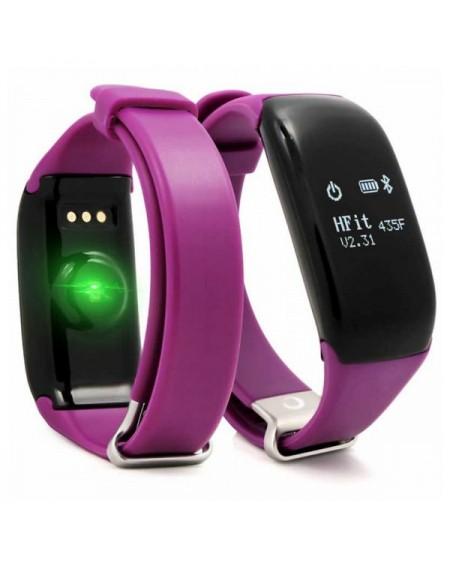 "Bracelet d'activités BRIGMTON BSPORT-14-M OLED 0.66"" Bluetooth 4.0 IP67 Android /iOS 26 g Violet"