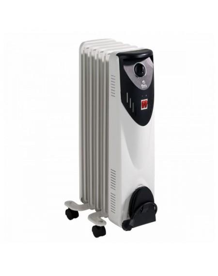 Radiateur à Huile (5 modules) Grupo FM RW-10 1000W Blanc