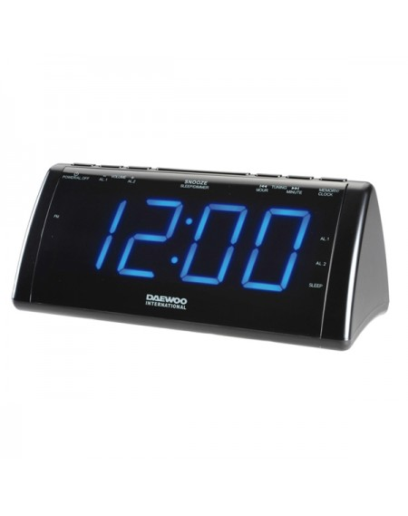 Radio réveil avec projecteur LCD Daewoo 222932 USB