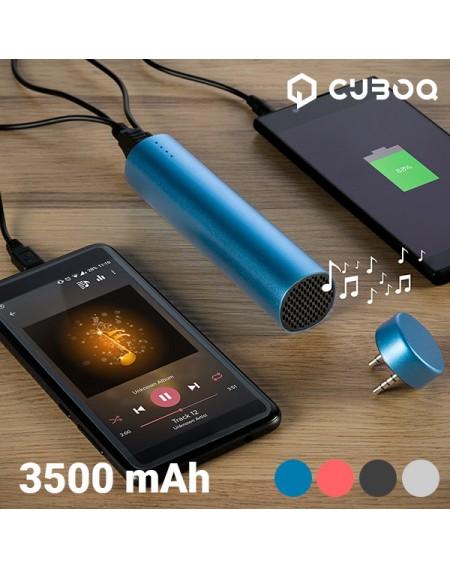 Chargeur de Batterie USB avec Haut-Parleur CuboQ 3500 mAh