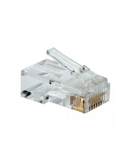 Connecteur RJ45 Catégorie 5 UTP NANOCABLE 10.21.0101 10 pcs Gris