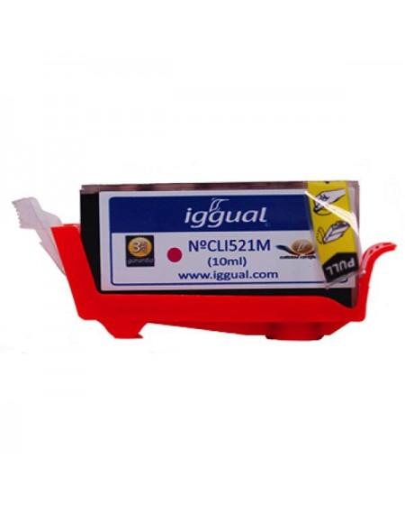 Cartouche d'Encre Recyclée iggual Canon CLI521M Magenta