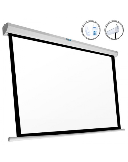 "Ecran Panoramique Electrique iggual PSIPS243 110"" (243 x 137 cm) Blanc"