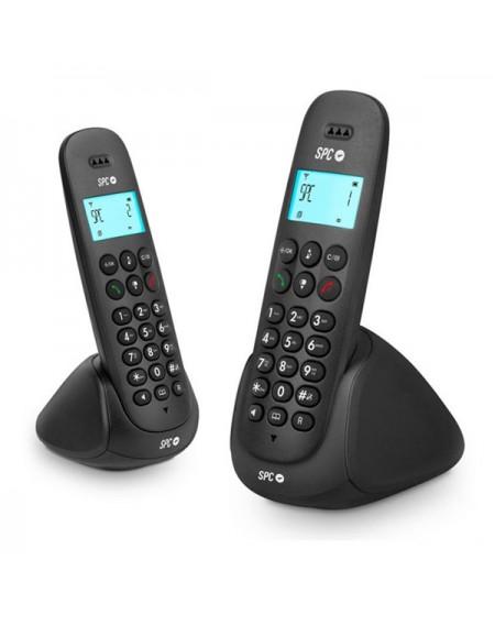 Téléphone Sans Fil SPC 7312N DECT (2 pcs) Noir