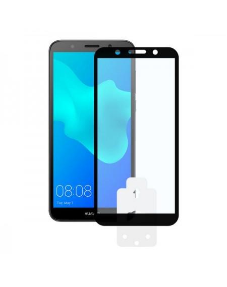 Film Protecteur en Verre Trempé pour Téléphone Portable Huawei Y5 2018 2.5D Noir