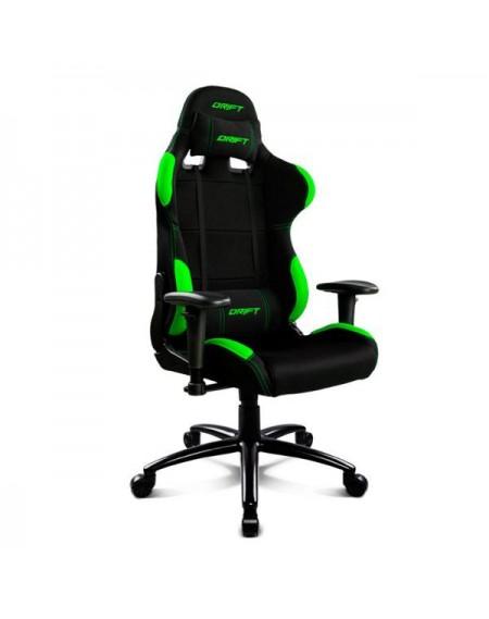 Chaise de jeu DRIFT DR100BG 90-160º Tissu Mousse Noir Vert