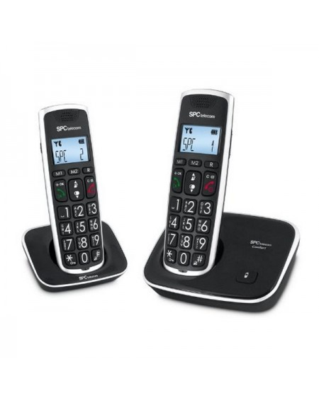 SPC 7609N Téléphone DECT DUO Grandes Touches AG20 ID LCD ECO