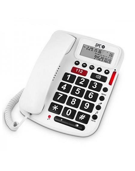 Téléphone Fixe pour Personnes Âgées SPC 3293B Blanc