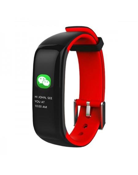 "Bracelet d'activités BRIGMTON BSPORT-15-R 0,96"" OLED 150 mAh Bluetooth 4.0 Rouge"
