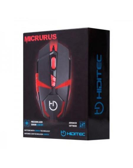 Souris Gaming Hiditec Micrurus 8100 dpi Noir Rouge