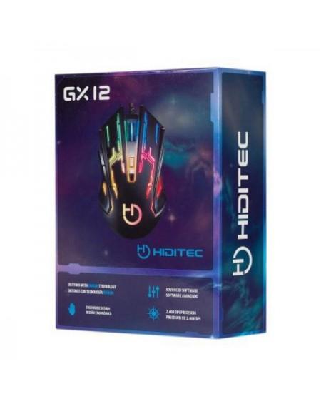 Souris Gaming Hiditec GMO010002 2400 DPI Noir