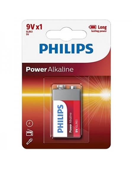 Pile Alcaline Philips 6LR61 9V