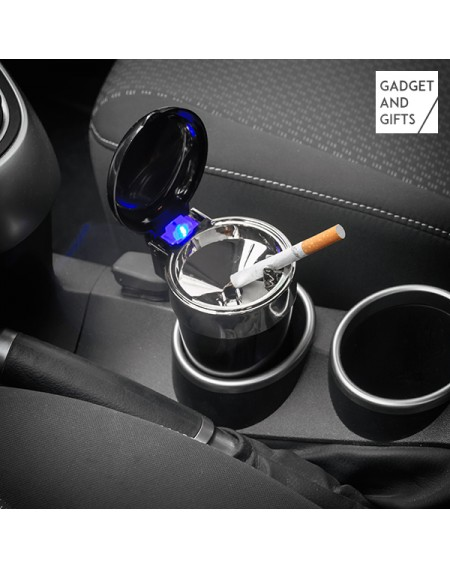 Cendrier avec Couvercle et LED pour Voiture Gadget and Gifts