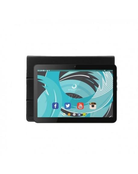 """Tablette avec Housse BRIGMTON BTPC-1021N+BTAC108N 10.1"""" IPS 1 GB RAM 16 GB Android 5.1 Lollipop Quad Core Noir"""