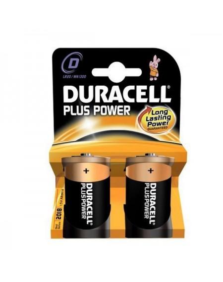 Piles Alcalines DURACELL Plus Power DURLR20PB2 LR20 D 1.5V (2 pcs)