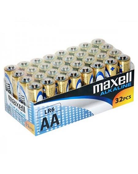 Piles Alcalines Maxell MXBLR06P32 LR06 AA 1.5V (32 pcs)