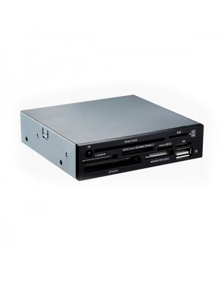"""Lecteur de Cartes Interne SIM/DNI TooQ TQR-202B 3½"""" USB 2.0 Micro SD/M2 480 Mbps Noir"""