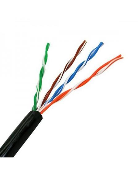 Câble Réseau Rigide UTP 5ème Catégorie NANOCABLE 10.20.0302-EXT-BK 100 m Noir