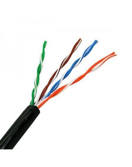 Câble Réseau Rigide UTP 5ème Catégorie NANOCABLE 10.20.0304-EXT-BK 305 m Noir