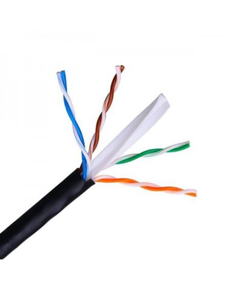 Câble Réseau Rigide UTP 6ème Catégorie NANOCABLE 10.20.0502-EXT-BK 100 m Noir