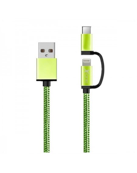 Câble USB pour iPad/iPhone Ref. 101110 Vert