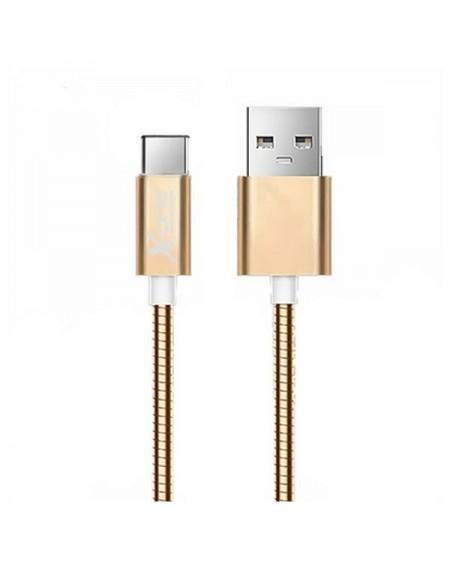 Câble USB A 2.0 vers USB C Ref. 101097 Or rose