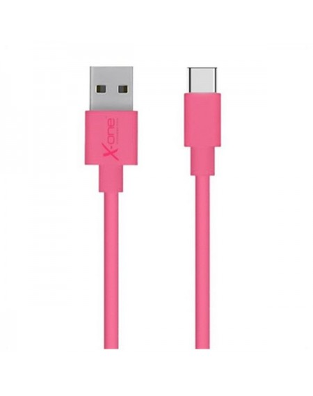 Câble USB A 2.0 vers USB C Ref. 101172 Fuchsia