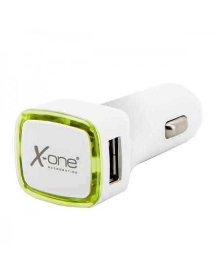 Chargeur de voiture Ref. 138413 2 x USB-A Blanc Vert