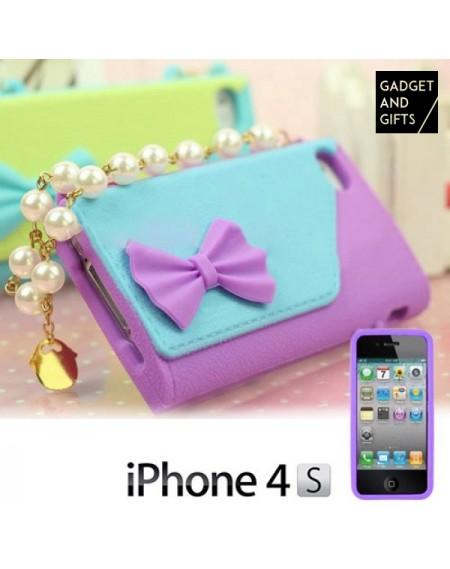 Coque iPhone 4/4S Sac avec Perles