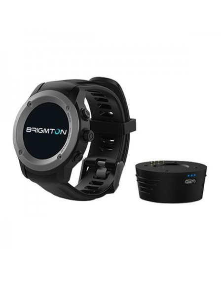 "Montre intelligente BRIGMTON BWATCH-100GPS-N 1,3"" LCD Bluetooth Noir"
