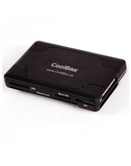 Lecteur de Cartes Intelligentes CoolBox CRE-065 USB 2.0 Noir