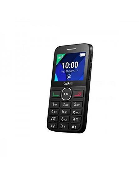 """Téléphone portable pour personnes âgées Alcatel 2008G 2.4"""" 8 MB RAM 16 MB Noir"""