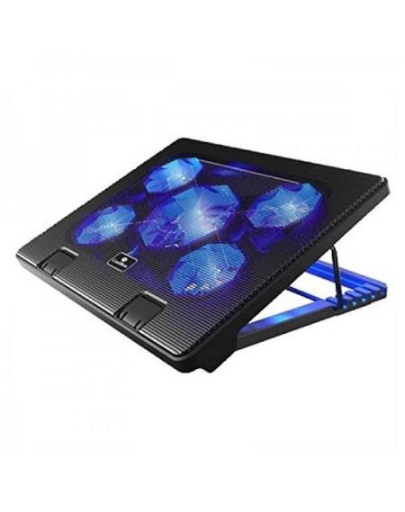 """Support de refroidissement pour ordinateur portable CoolBox COO-NCP17-5BL 12""""-17"""" Noir"""