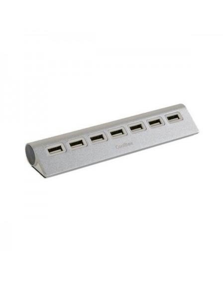 Hub USB CoolBox COOHU7ALU2 Aluminium (7 ports)