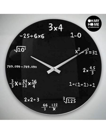 Horloge Murale Maths