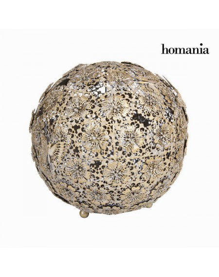 Boule fleur et papillon or vieillie - Collection Art & Metal by Homania