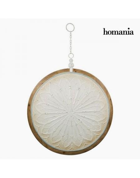 Décoration Suspendue Circulaire Blanc Bronze (91 x 109 x 10 cm) by Homania
