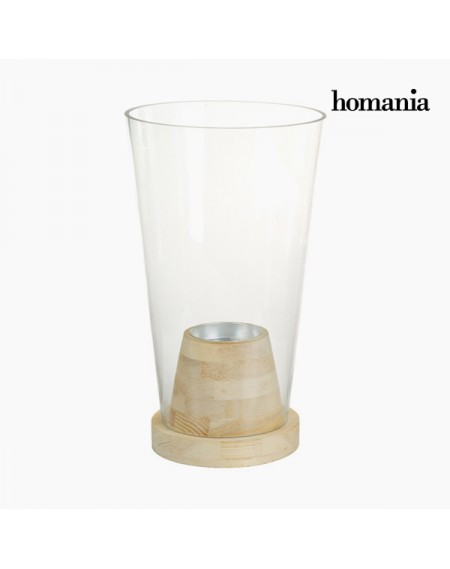 Vase Verre Bois - Collection Pure Crystal Deco by Homania