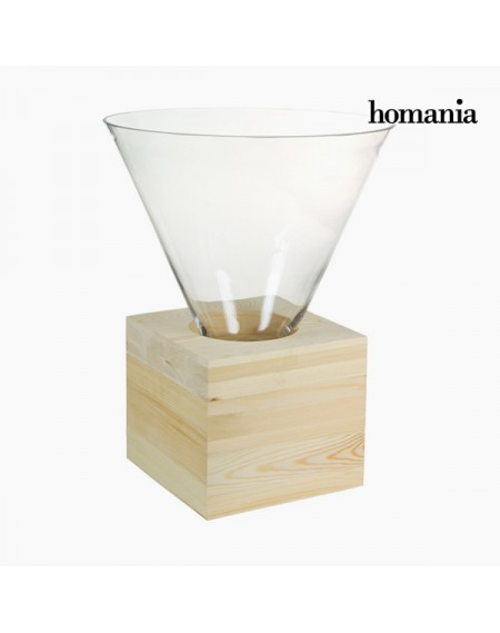 Centre de Table Verre Bois - Collection Pure Crystal Deco by Homania