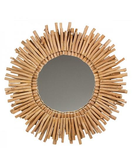 Miroir Bois d'acacia (77 X 6 x 77 cm)