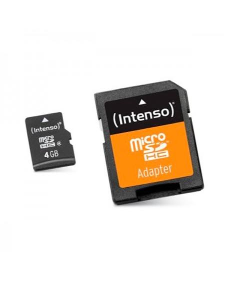 Carte Mémoire Micro SD avec Adaptateur INTENSO 3413450 4 GB Cours 10
